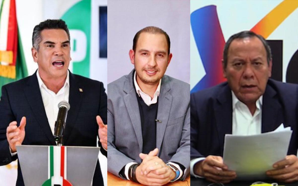Alianza Va por México pende de un hilo; PAN y PRD presionan al PRI para rechazar la Reforma de AMLO