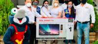 CROC y Club Rotario unen esfuerzos: dona Gerardo Oyervides pantalla para rifa beneficio