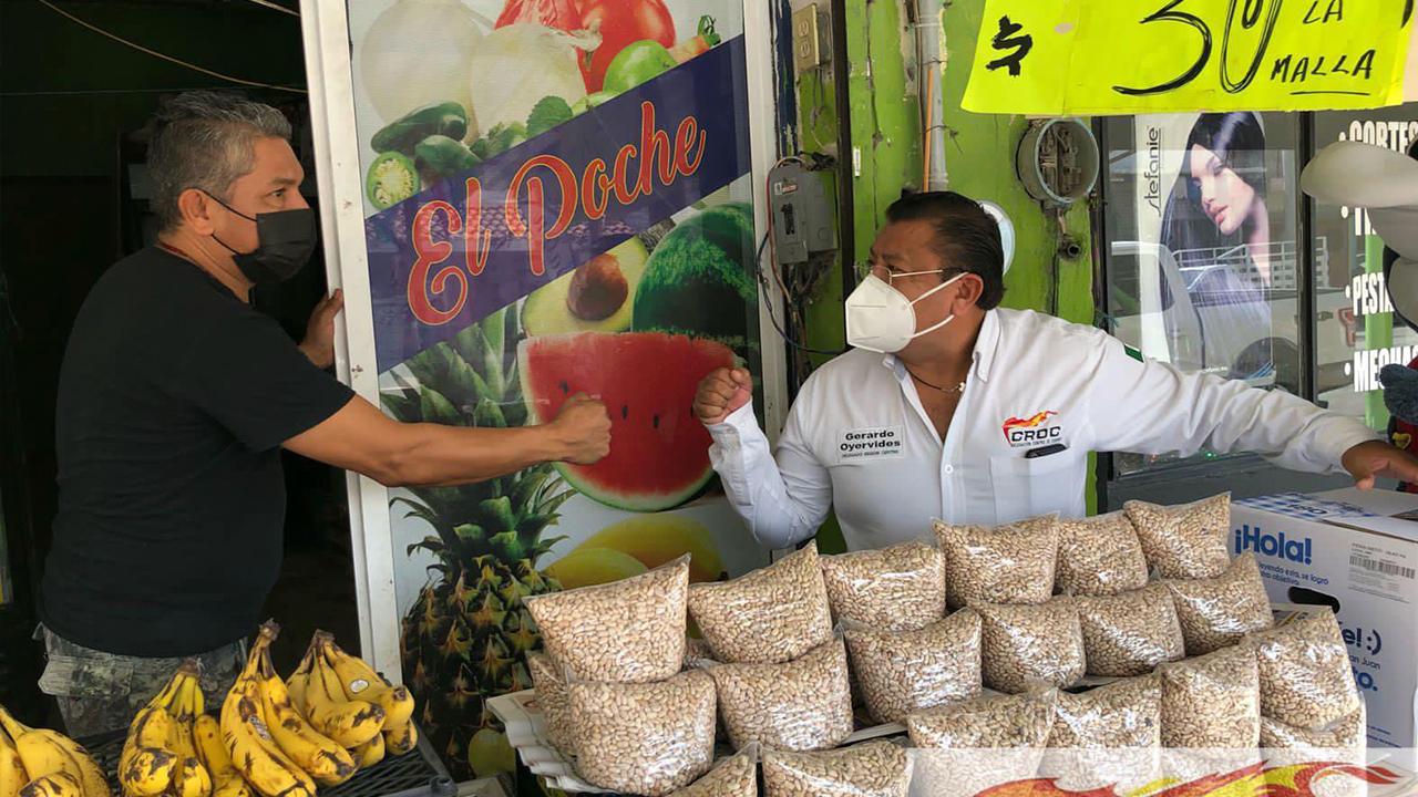 Respalda Gerardo Oyervides al comercio local de Frontera