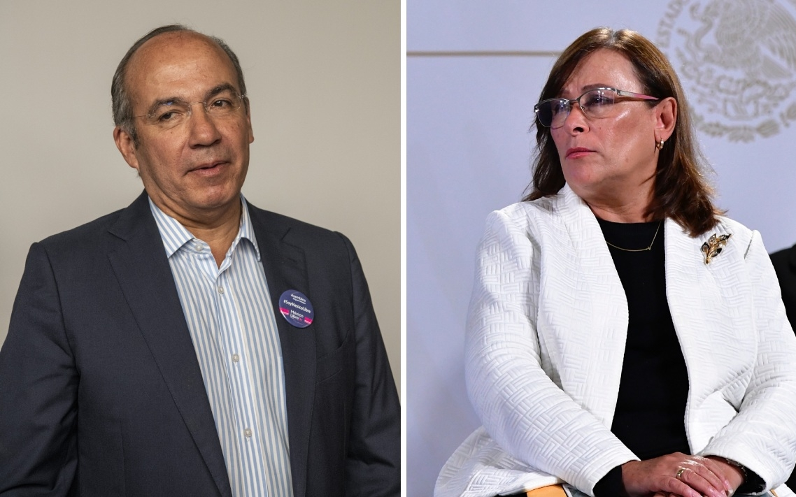 Calderón arremete contra la 4T por trifulca en Dos Bocas; Rocío Nahle lo cuestiona por la 'invisible' refinería Bicentenario