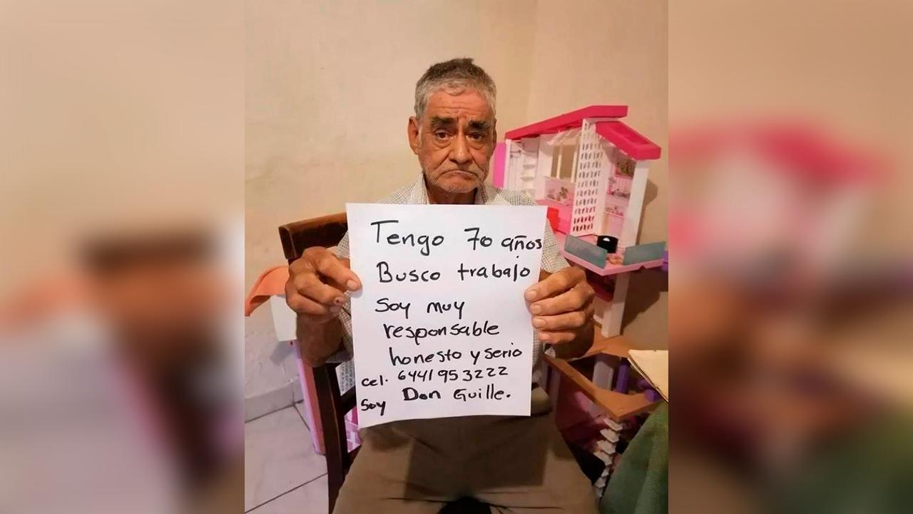 'Soy responsable, honesto y serio': Don Guille, de 70 años, solicitó empleo por redes sociales