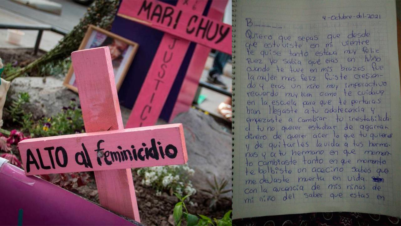 Erika le escribió carta a su hijo feminicida: Terminó con la vida de sus dos hijas