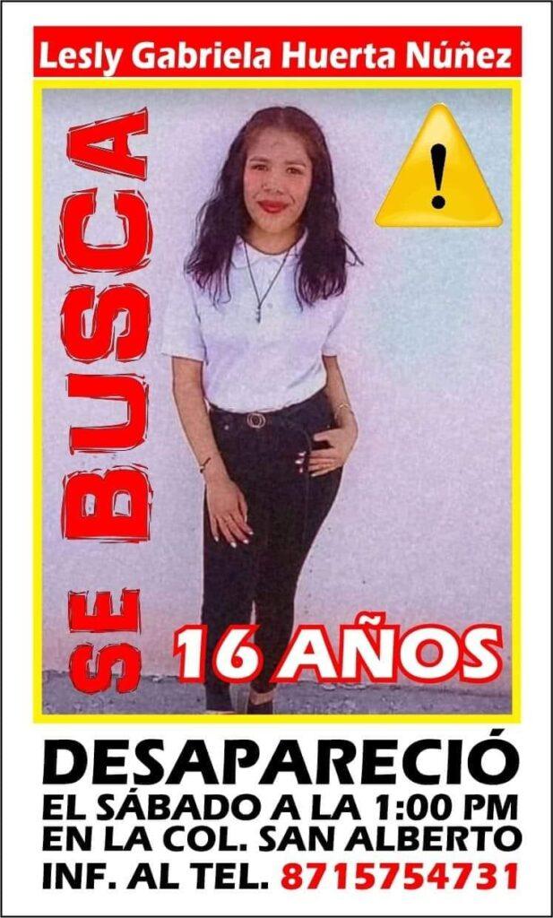 Lesly Gabriela, de 16 años, desapareció en La Laguna el pasado sábado