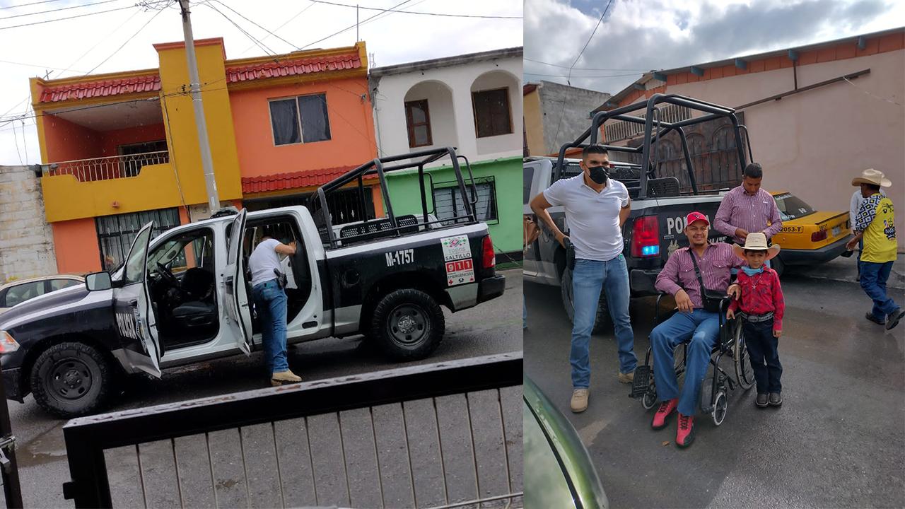 Policías ayudaron a hombre en silla de ruedas; fue discriminado por InDrivers en Coahuila