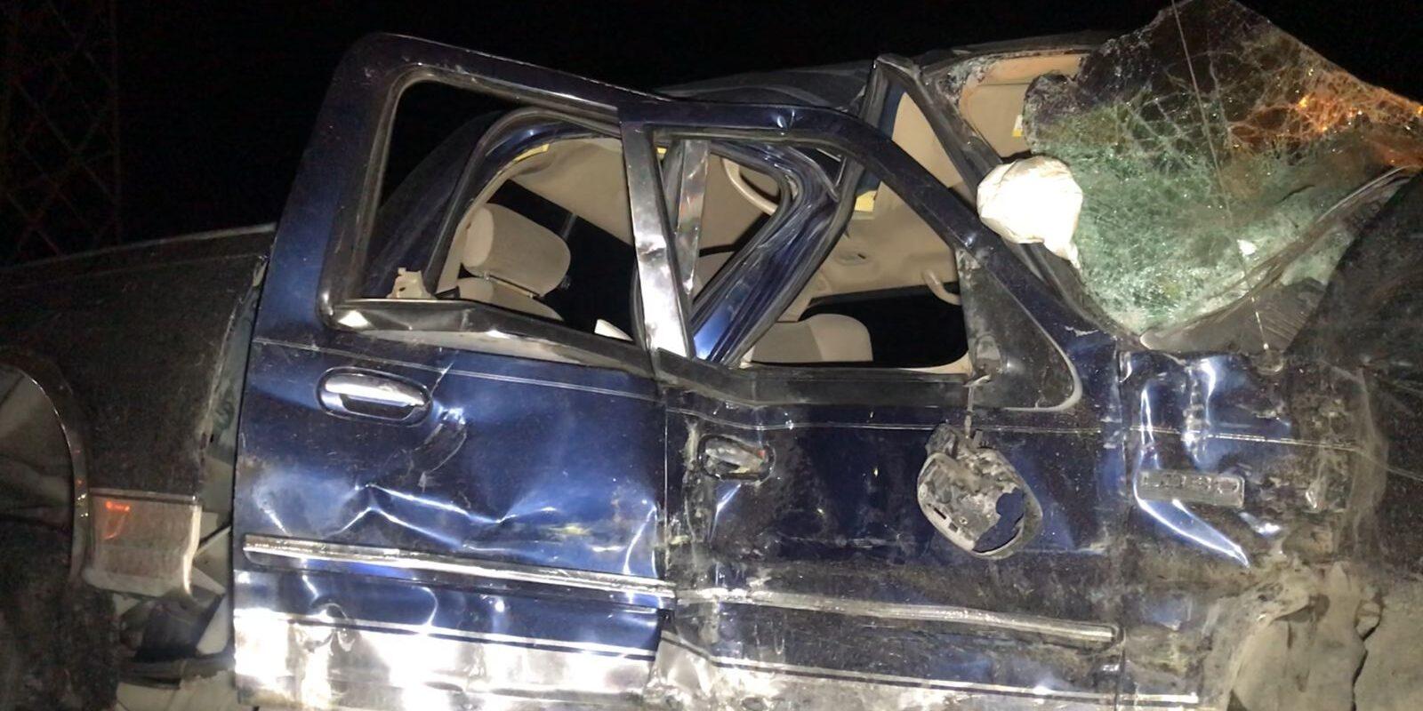 Queda prensado conductor de Ford Lobo que se atravesó a tráiler en el Libramiento Carlos Salinas de Gortari en Frontera
