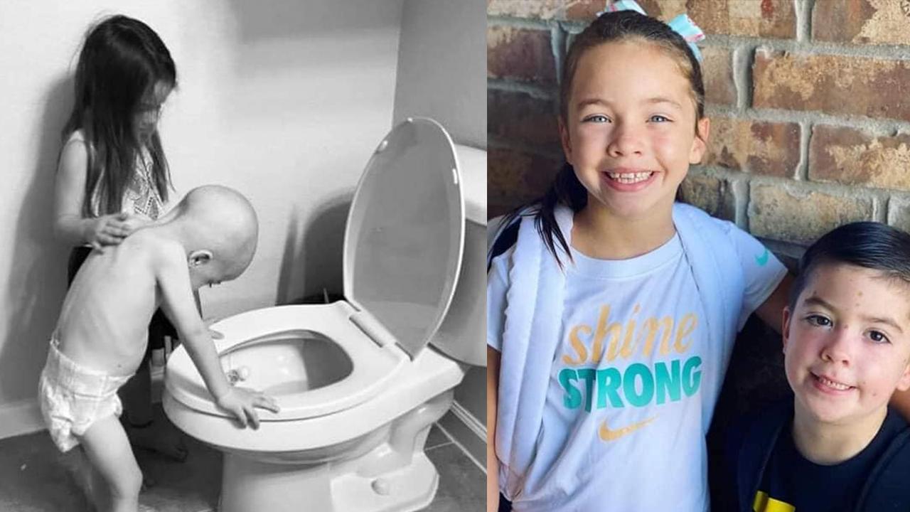 Junto a su hermana, niño logra vencer el cáncer: se quedó con él durante 4 años