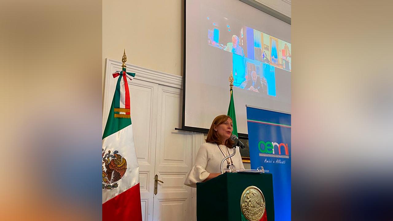 Va Tatiana Clouthier a Italia; buscan alianzas entre empresarios de ambos países