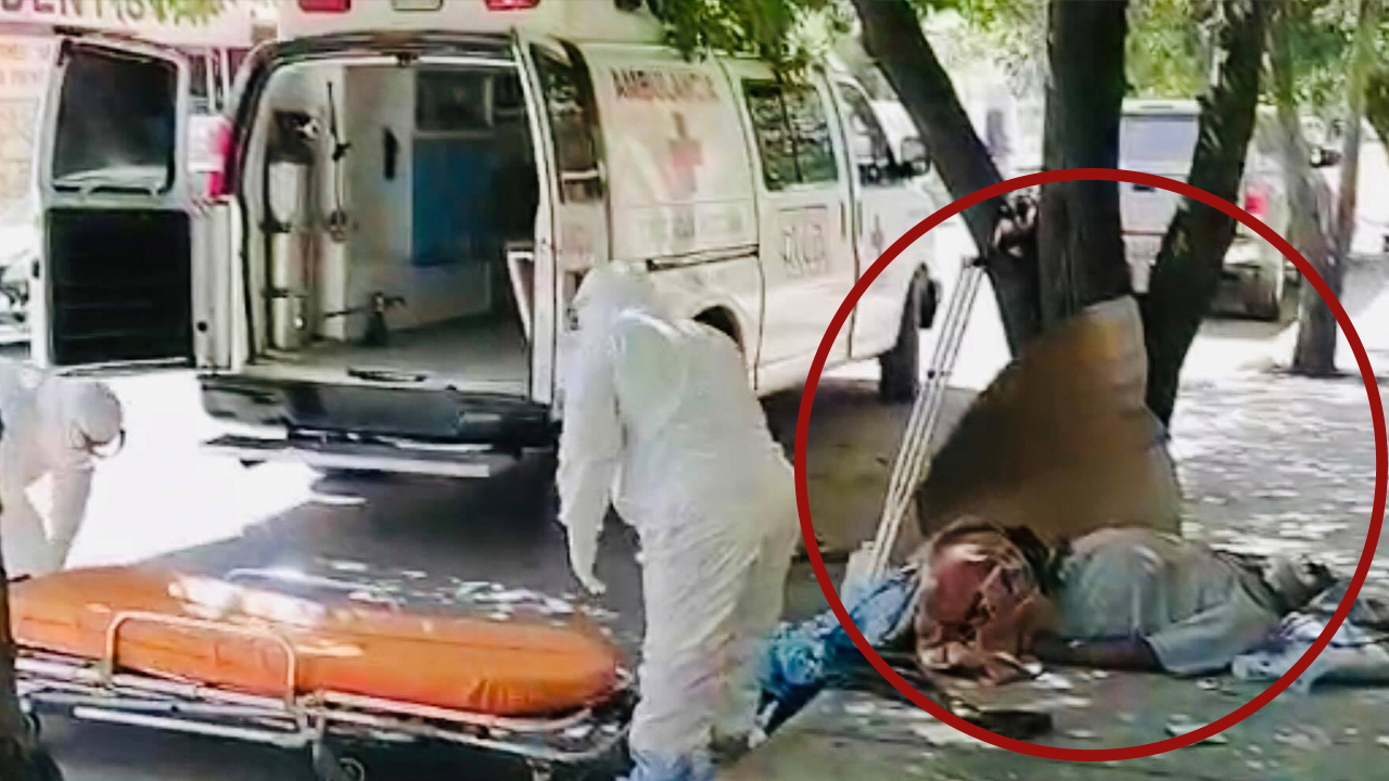 Don Felipe estuvo en riesgo de morir por COVID en las calles de Sabinas: solo tiene a su perrito