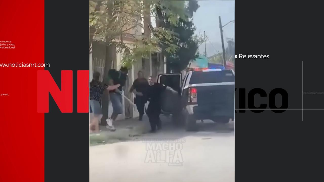 Sujeto drogado intenta golpear a su padre, al arrestarlo lesiona a mujer policía, en Monclova