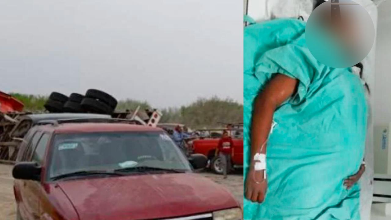 Embarazada y su bebé en riesgo: fue aplastada por 20 bultos de cemento en Coahuila