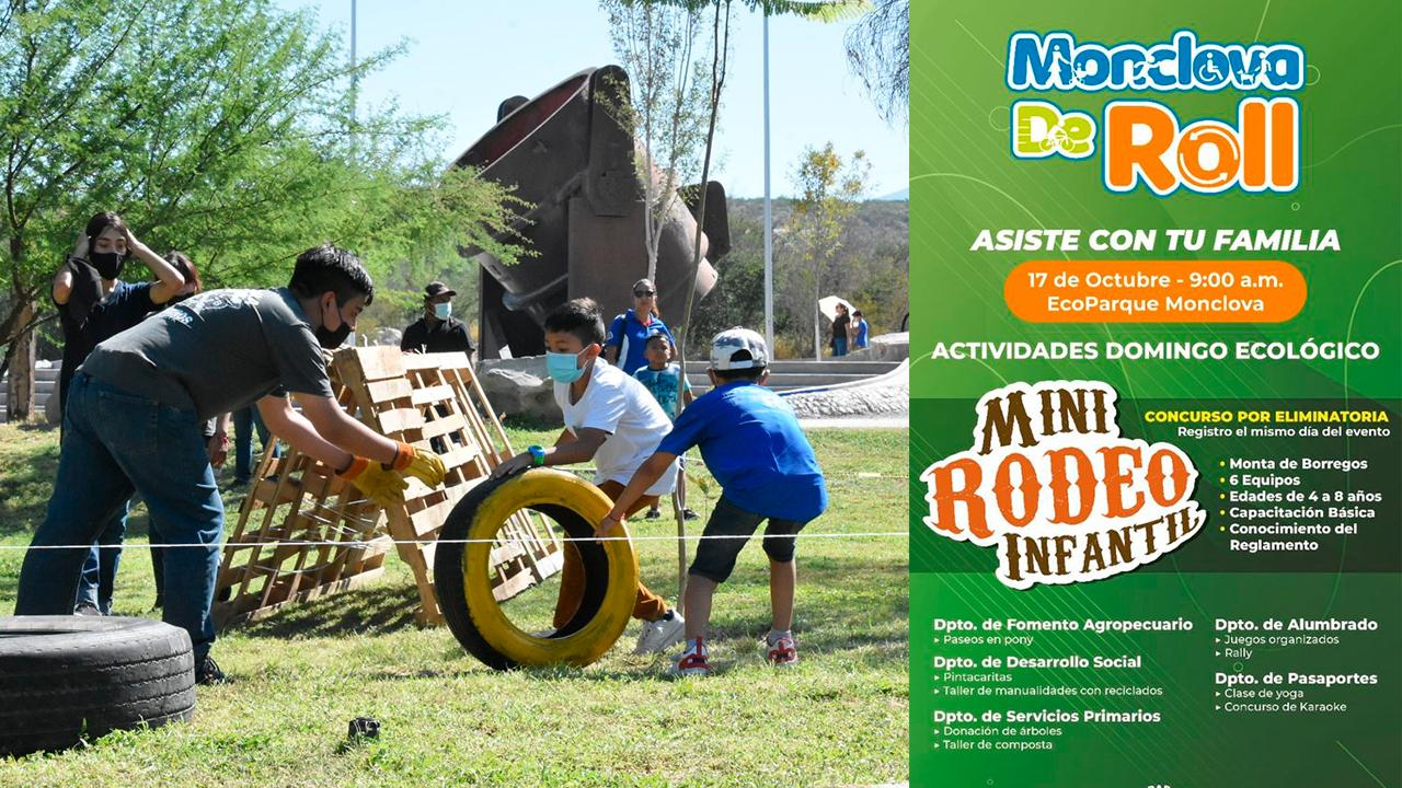 Rally, mini-rodeo, pesca y más: Invitan a familias al 'Monclova de Roll' de este domingo