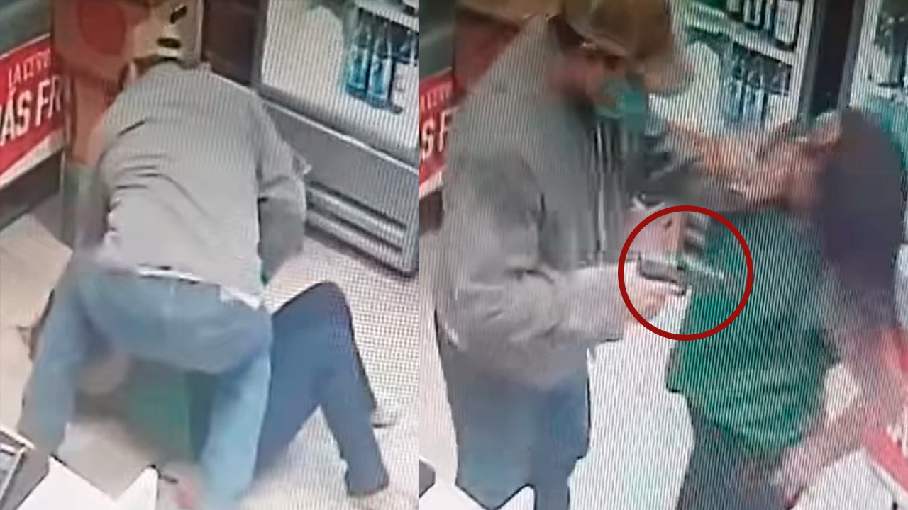 Intentan asesinar a empleada de 'six' en Frontera: a punta de pistola, roban tienda