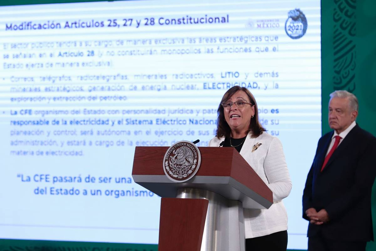 No se va a nacionalizar ni un tornillo: Rocío Nahle sobre reforma eléctrica