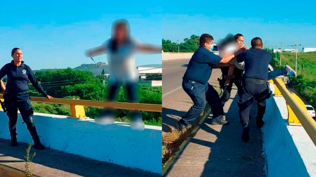 ¡Tírate, no andes con panchos!: hombre reta a mujer a lanzarse de un puente; se vuelve viral