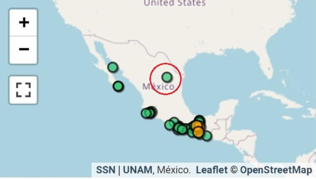 Un temblor de 3.9 sacudió a Ramos Arizpe y Saltillo